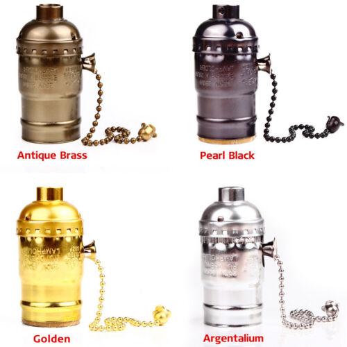 Easesign E27//26 Retro Pull Chain Switch Vintage Screw Edison Bulb Light Socket