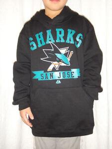 d66f2878c San Jose Sharks NHL Majestic Hooded Pullover Fleece Sweatshirt Youth ...