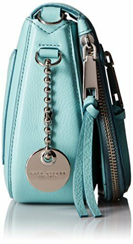 Zip375 Leather Nwt In Plastic Marc Jacobs Zadeltas AzureSilver Recruit CdxrtsBohQ