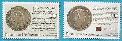 Geschichte 150 Jahre Verfassungsiegel GläNzende OberfläChe Liechtenstein Liechtenstein Aus 2012 ** Postfrisch Minr.1622-1623