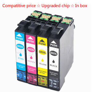 4x-Kompatibel-Tinten-Patronen-EA-502XL-fuer-Epson-WorkForce-WF-2860DWF-WF-2865DWF