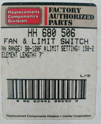 F.A.P HH 680 506 FAN /& LIMIT SWITCH 64,65