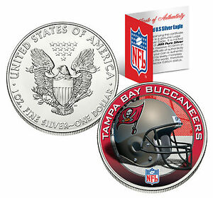 Tampa Bay Bucs 1 Oz 999 Fine Silver American Eagle 1 Us