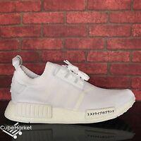 Adidas NMD R1 PK Primeknit Tokyo Japan Triple White BZ0221 Size 7-12.5