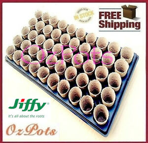 45mm-Jiffy-Pots-Round-50-cells-Tray-Garden-Propagation-Seedling-Cutting