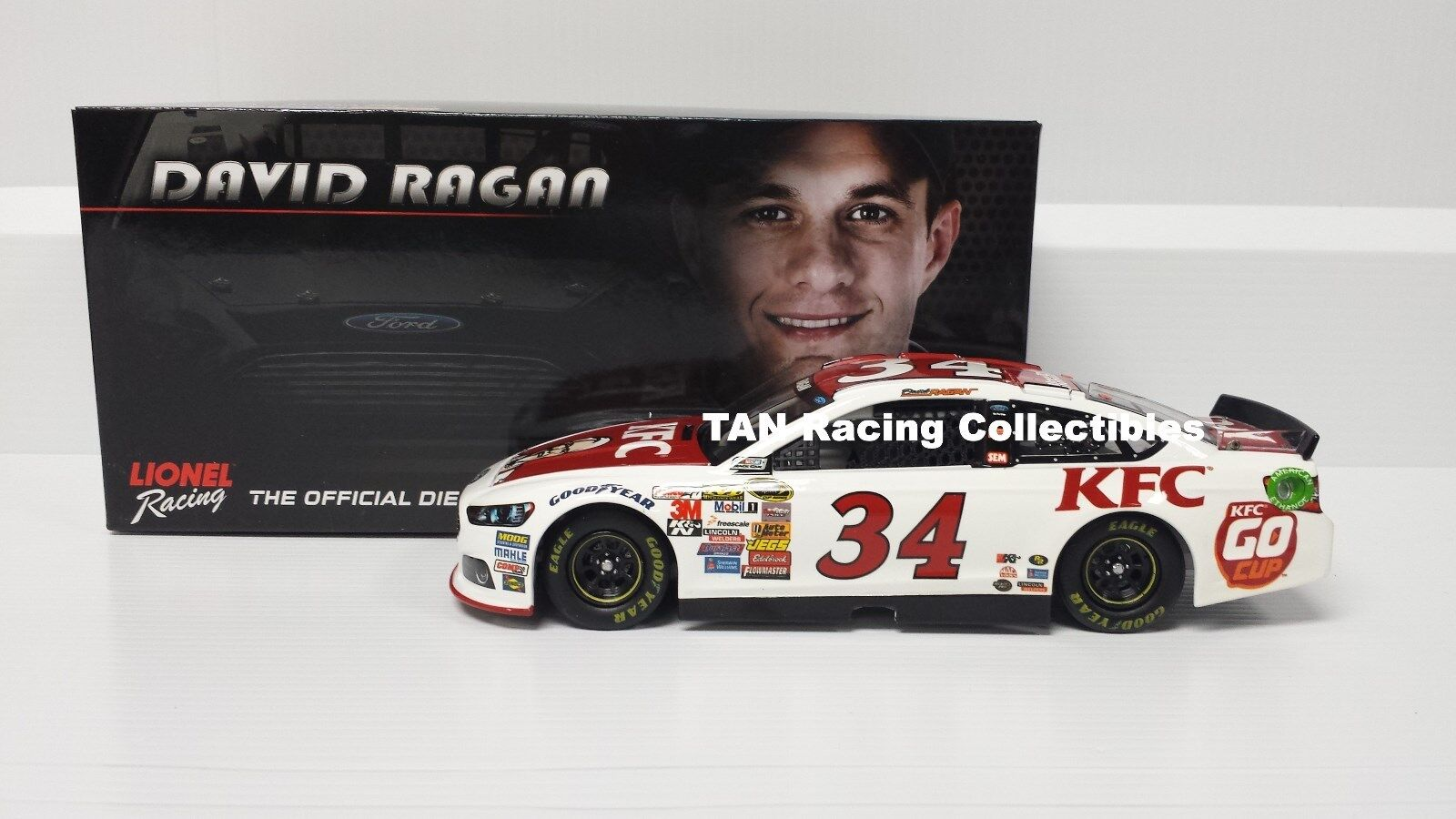 David Ragan 2014 Lionel Action  34 KFC Go Cup Ford Fusion 1 24 FREE SHIP