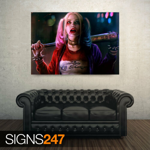 MARGOT ROBBIE AS HARLEY AB080 Poster Print Art A0 A1 A2 A3 MOVIE POSTER