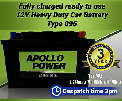 Vauxhall Car /& Van OEM Replacement Battery TYPE 096