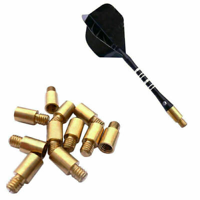 6X  Black Aluminum Darts 2ba Shafts Medium Harrows Stems Dart Throwing G8P5