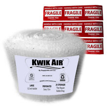 Kwikair Bubble Cushion Wrap Roll 100 X 14 Medium 516 Bubbles Perforated 10