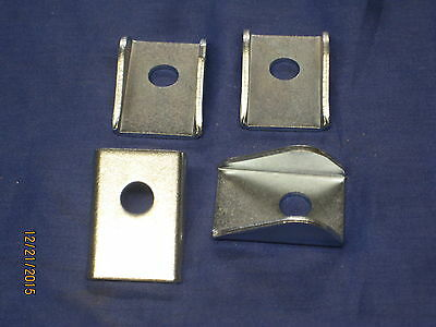 MG MGB MGC ROADSTER or GT PAIR OF  FRONT NUMBER PLATE BACKING BRACKETS  ***X1B