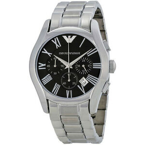 b58669500bb Image is loading Emporio-Armani-AR0673-Classic-Chronograph -Black-Dial-Stainless-