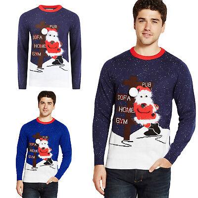 Geschickt Merry Christmas Adults 3d Drunk Santa Jumper Festive Knitted Soft Xmas Sweater Starker Widerstand Gegen Hitze Und Starkes Tragen