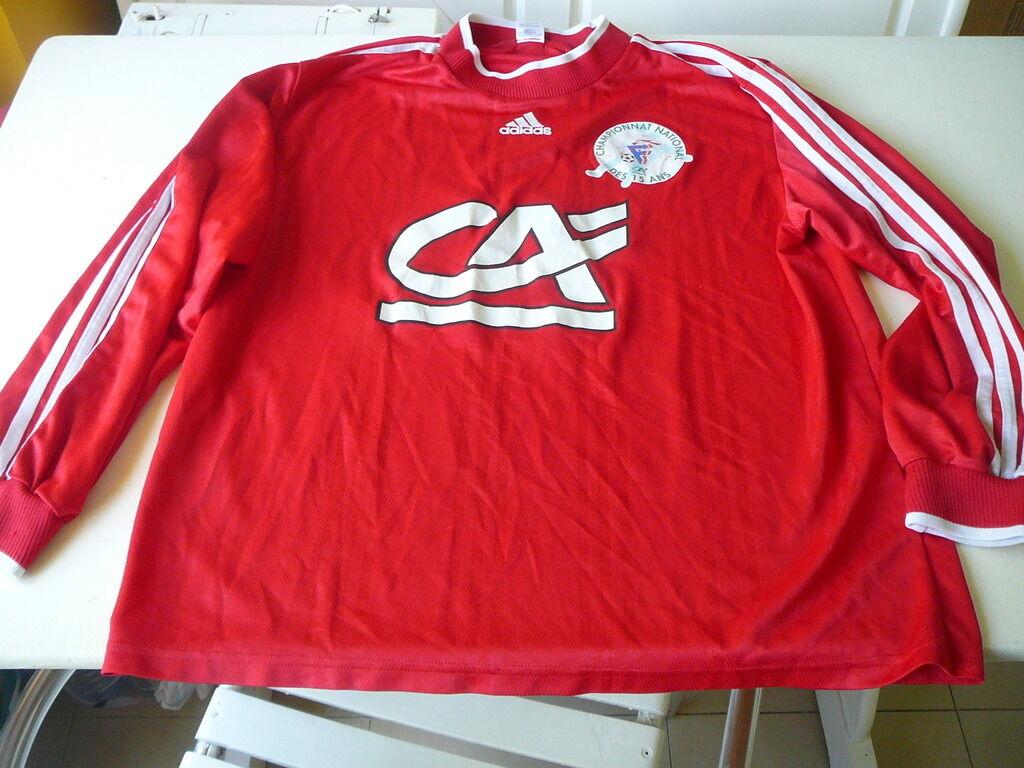 Maglia da calcio Campionato nazionale di 15 anni Adidas rosso XL indossato