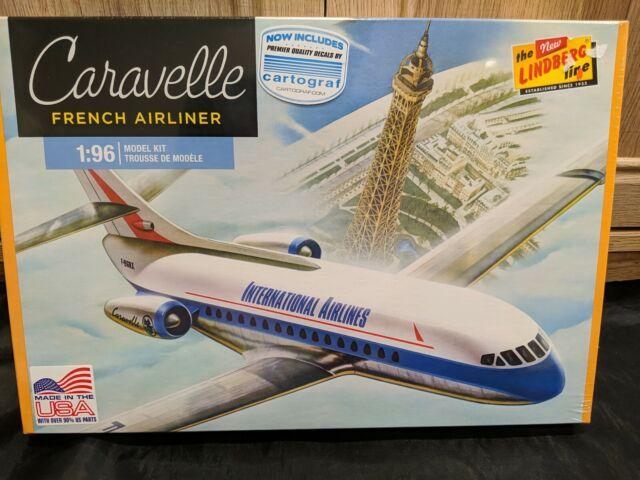 CARAVELLE FRENCH AIRLINER MODEL KIT LINDBERG 1:96 SCALE