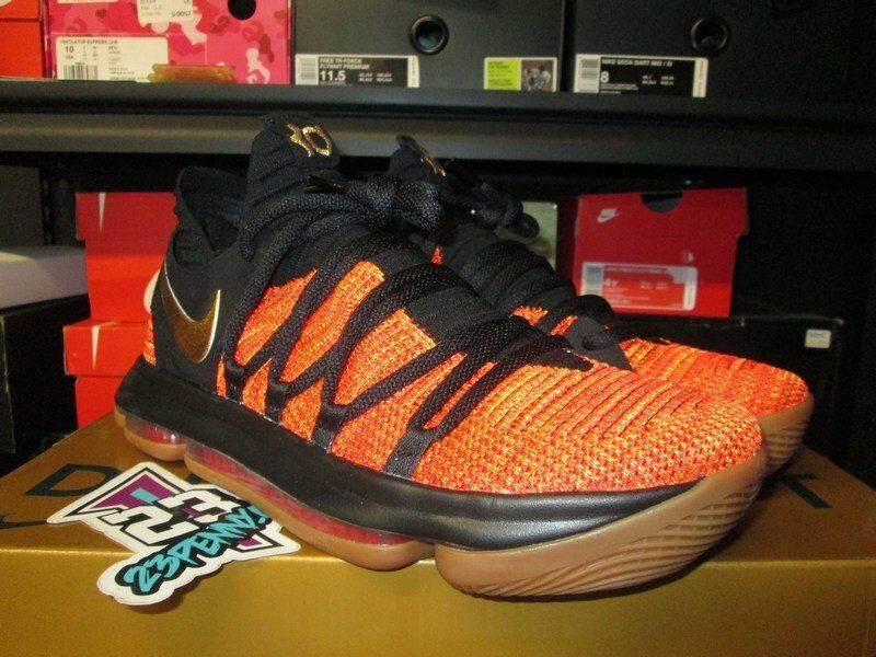 SALE NIKE ZOOM KD 10 NFS X UNIVERSITY RED METALLIC gold CD6455 676 NEW DURANT
