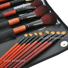31 PCS BLACK Makeup Brush Set Cosmetic Brushes Make up Kit W Pouch Bag Case #349