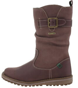 official photos ce2ee 1803f Details about El Naturalista Buffalo 1161972 Leather Winter Boots Purple  185497