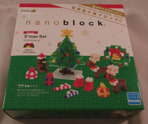 Kawada Nanoblock X/'mas Set Merry Christmas japan building toy LTD NBH/_077