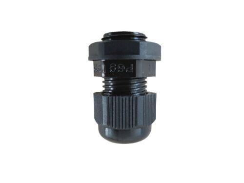 RACCORDO Cavo 3tlg pg9 NERO PER CAVO 4-8 mm
