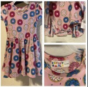 Dot Dot Smile Cap Sleeve Twirly Dress 12-24 Months Donuts