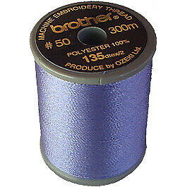 Brother satin finish embroidery thread 300m spool FLESH PINK 124