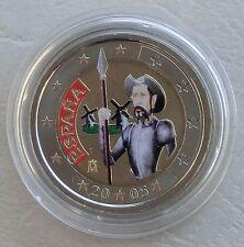 """2 Euro Spanien 2005 """"Don Quichote"""" in Farbe unz"""