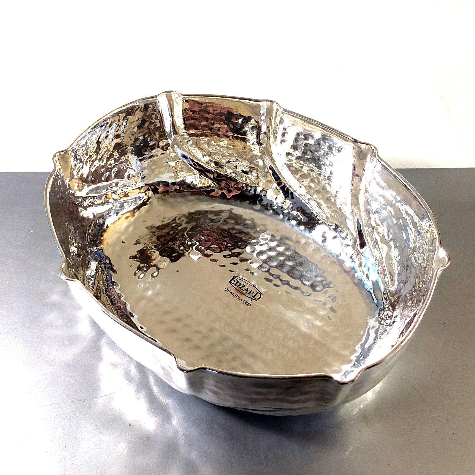 (a57) EDZARD versilberte Schale Schüssel 19 x 23,5 cm Vintage 60er Silber