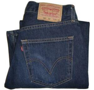 Herren-Levi-039-s-Vintage-527-dunkelblau-Loose-Bootcut-Denim-Jeans-w30-l30