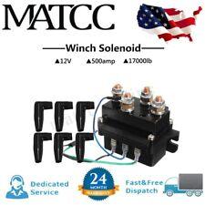 12V Heavy Duty Winch Solenoid Relay Contactor 500A 17000LB UTV Truck 4WD 4x4 US