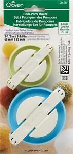 Clover-Conjunto-de-2-Gran-Tamano-Pom-Pom-Maker-Ganchillo-Tejer-Artesania-Accesorios