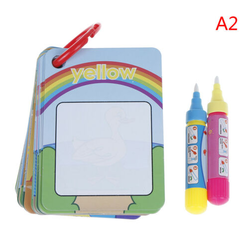 Kids magic water drawing flash card kids early education learning  new SS
