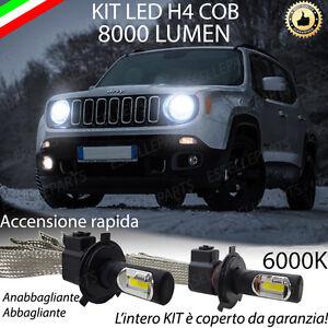Lampade H4 Led Jeep Renegade 8000 Lm Anabbagliante Abbagliante