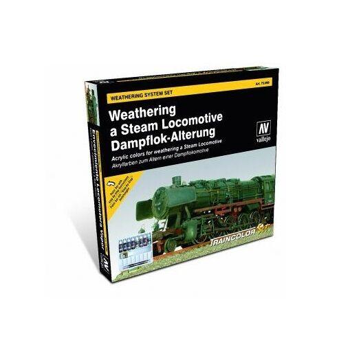 Vallejo BNIB Train color - Steam Engine Weathering Set VAL73099