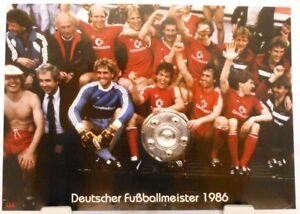 FC-Bayern-Muenchen-Deutscher-Fussball-Meister-1986-Fan-Big-Card-Edition-F74