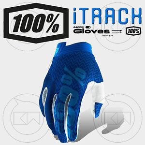 GUANTI-100-ITRACK-MX-BLUE-NAVY-ADULTO-MOTOCROSS-ENDURO-OFF-ROAD-ATV-MTB