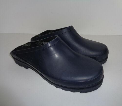 Mens New Navy Wellies Waterpoof Wellington Garden Rubber Boots Clogs Size 10