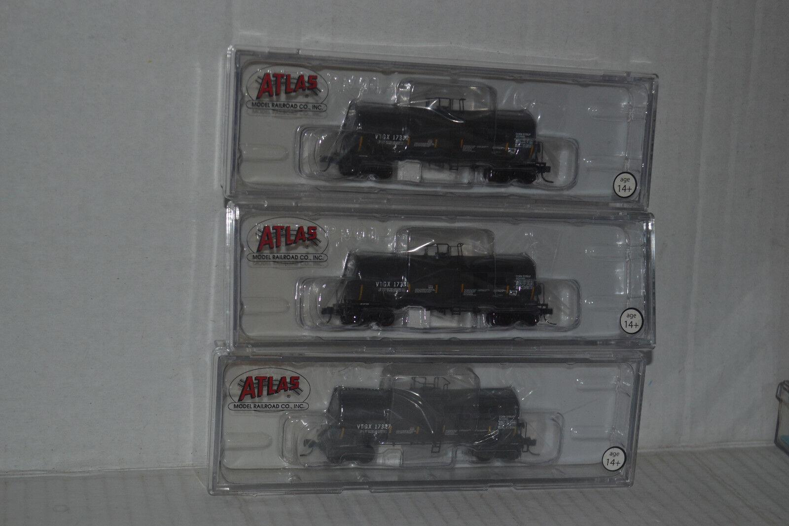 3 Atlas VTG North America 17.600 Gallon Tank Autos N Scale