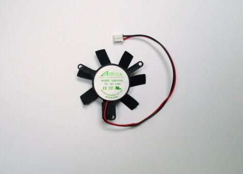 GA51B2U 45mm Fan 2 Pin Sapphire HD7750 Low Profile Video Card Apistek GA51S2U