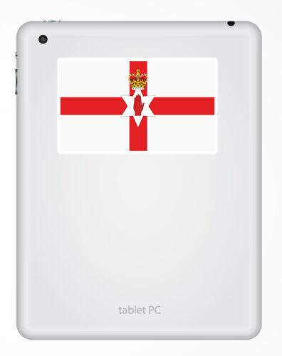 2 x 10cm Northern Ireland Flag Vinyl Sticker iPad Laptop Travel Luggage #5316