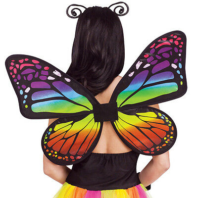 A716 Adult Rainbow Fairy Angel Butterfly Wings Pixie Hens Costume Accessory