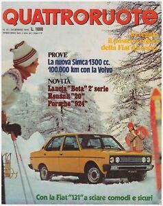 QUATTRORUOTE-12-1975-SIMCA-1307-S-VOLVO-144-S-LANCIA-BETA-PORSCHE-924