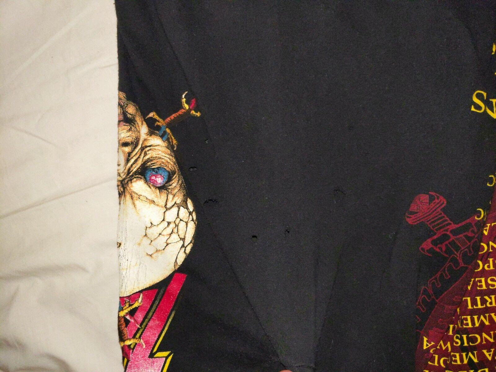 SLAYER XL 1991 Clash of The Titans Vintage T Shir… - image 12