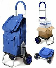 DBST-01060-Trolley Dolly, Blue Foldable Shopping Cart/ Grocery shopping Cart