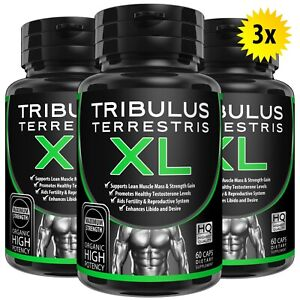 180 TRIBULUS TERRESTRIS 7500mg EXTRACT 96% SAPONINS TESTOSTERONE BOOSTER PILLS