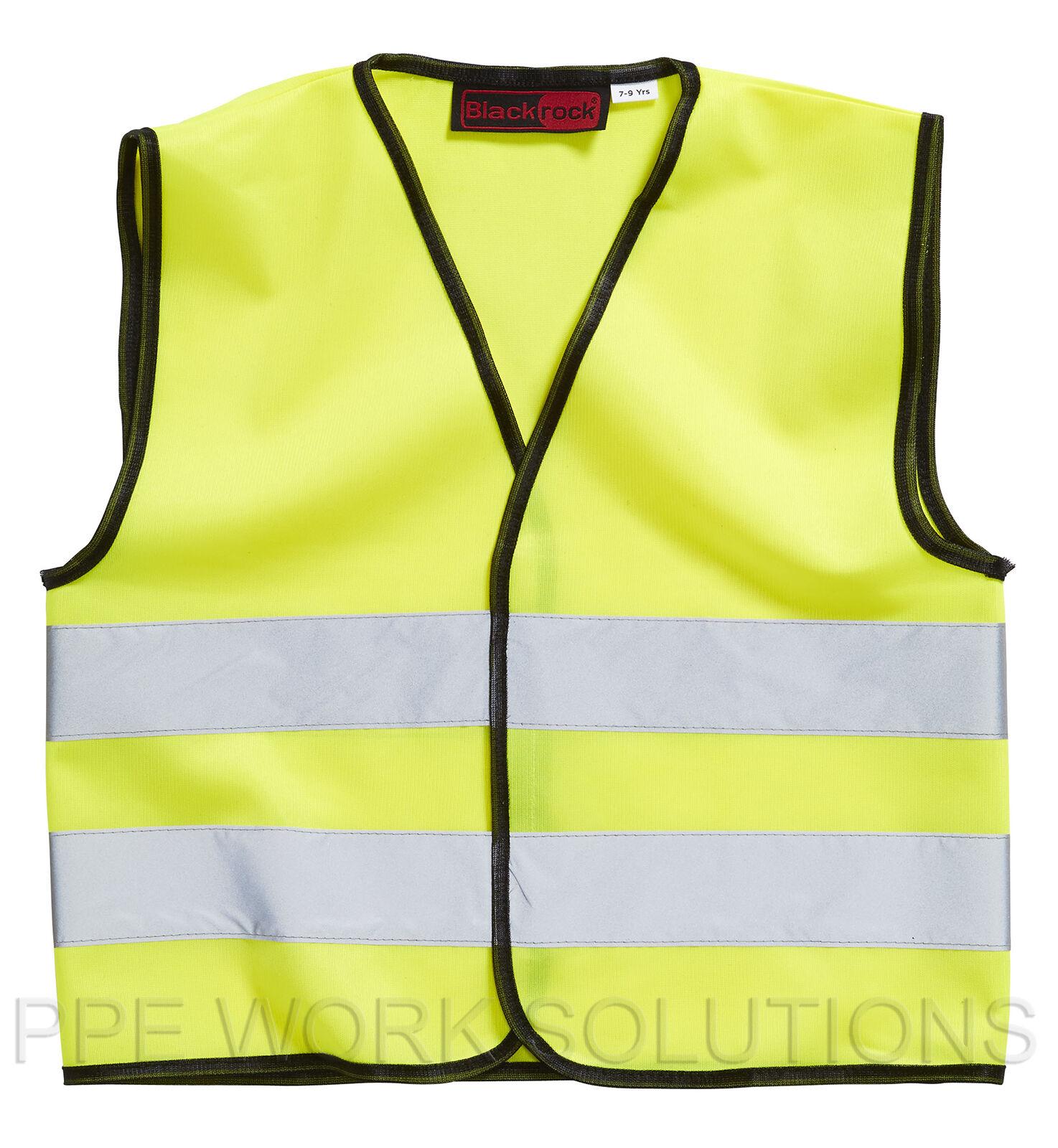 6e8a87b3f75f Baratec Yellow Hi Viz High Visibility Childrens Kids Vest Waistcoat ...