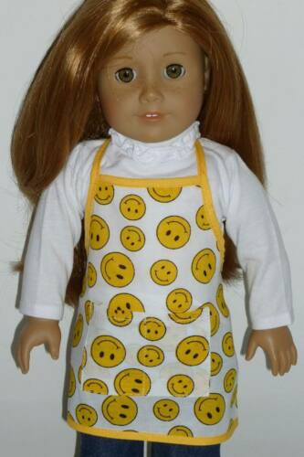 "Yellow Smiley Face Baking Cooking Apron For 18/"" American Girl Doll Accessories"
