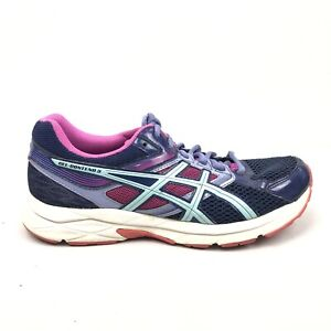 Asics-Gel-Contend-3-Running-Shoes-Womens-Size-9-Purple-Pink-White-Sneakers-T5F9N