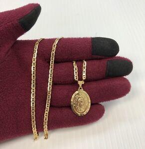 3612c82fb4a Virgen de Guadalupe Medalla con Cadena 22