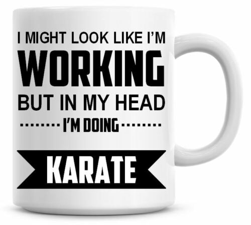 I/'M DOING KARATE Novelty//Funny Printed Coffee//Tea Mug Ideal Gift//Present 440